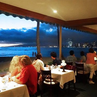 Dining Out on an Expense Account | Honolulu Restaurant Michel's at the Colony Surf Sunset